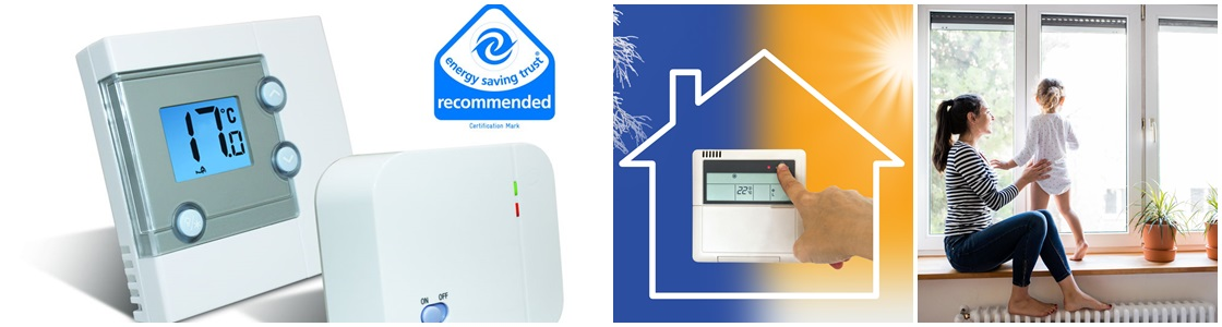 Lower your heating bills year after year, by installing wireless room thermostats